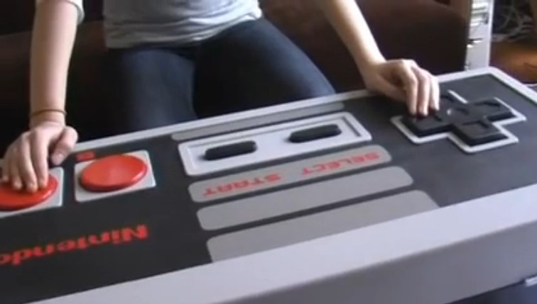 Super sized Nintendo controller doubles as a coffee table
