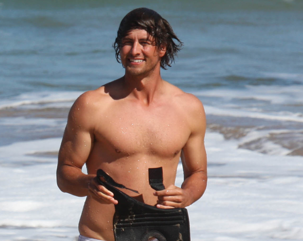 adam scott shirtless golfer