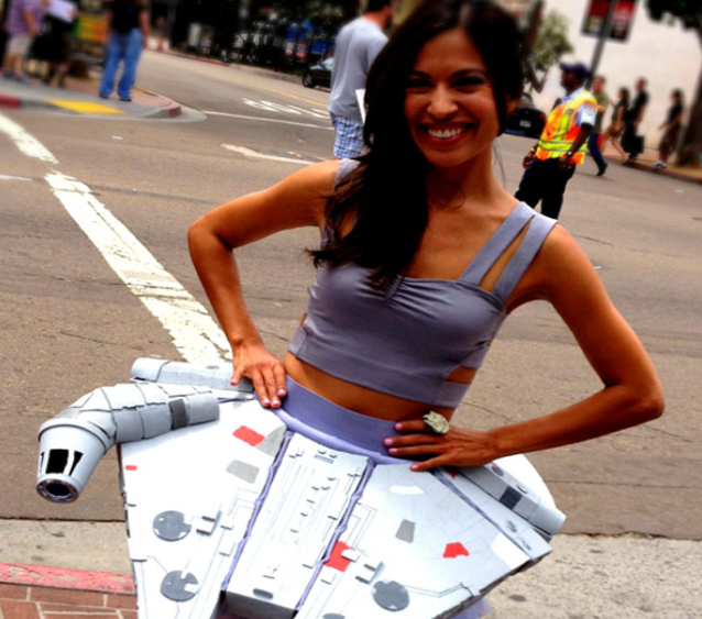Death Star Dress girl makes super cute Millennium Falcon skirt