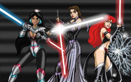 disney princesses star wars
