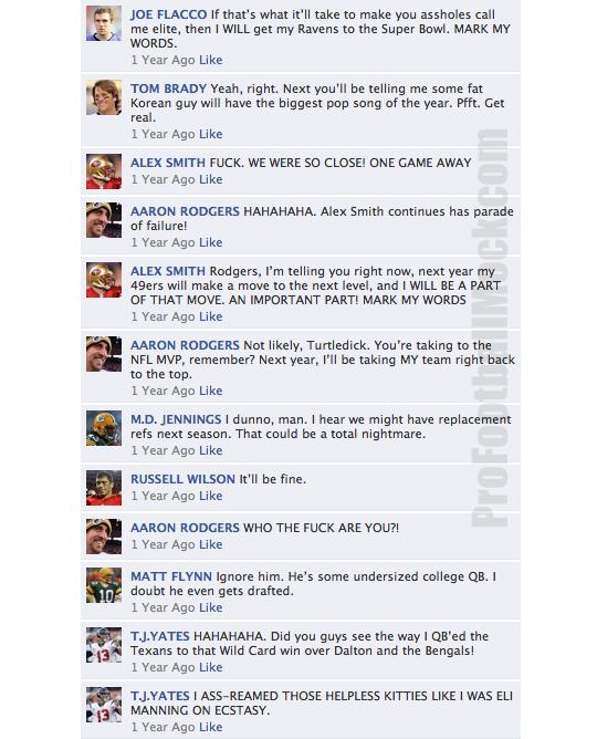 NFL QB's on Facebook