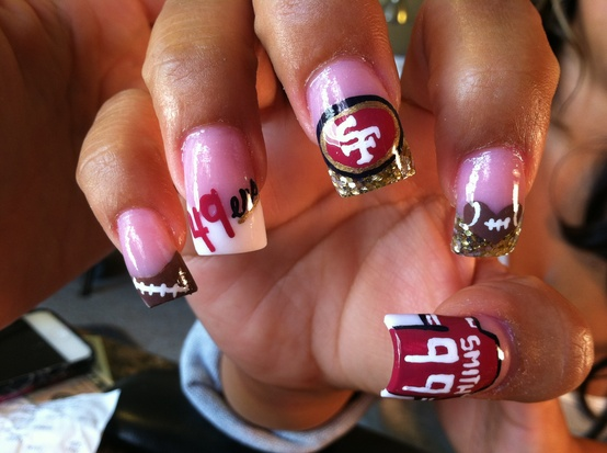 NFL Nail Art: Playoff Team Edition | GuysGirl | Voice for the Female