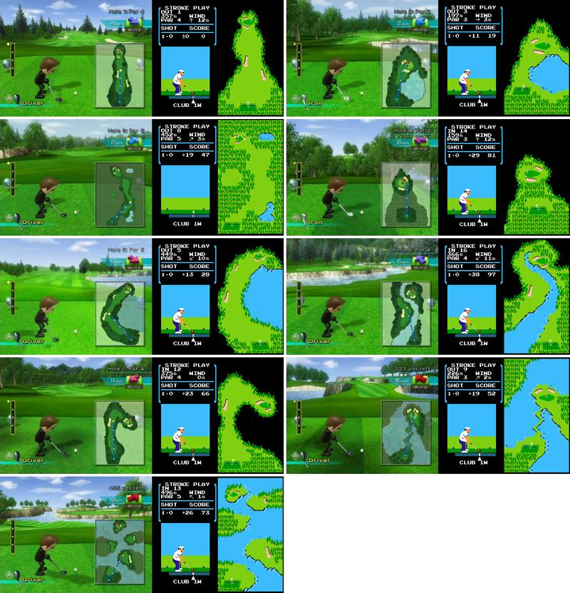 The Courses in Wii Golf Are the Same Setup As the Original NES [bonus video]