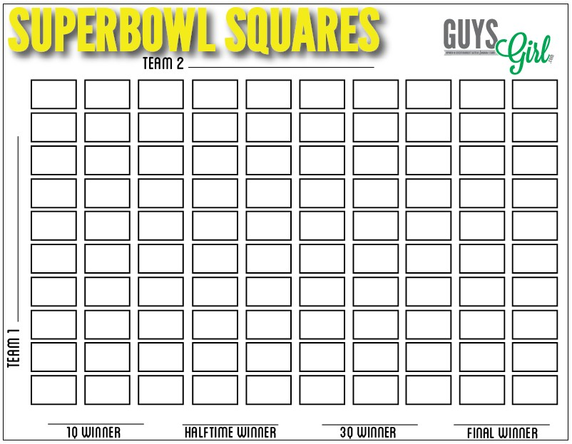 How To Play Football Squares how to play superbowl squares - guysgirl