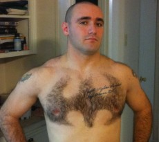 batman shaved into chest hair