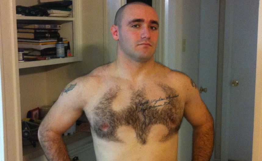 Strangely Attractive: Man Shaves Batman Logo Into Chest Hair