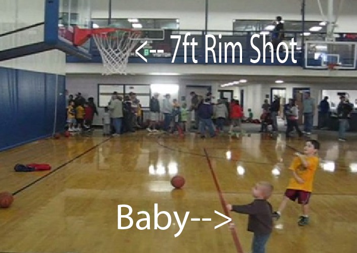 2 Year Old Baby Has Impressive Basketball Trick Shot Video