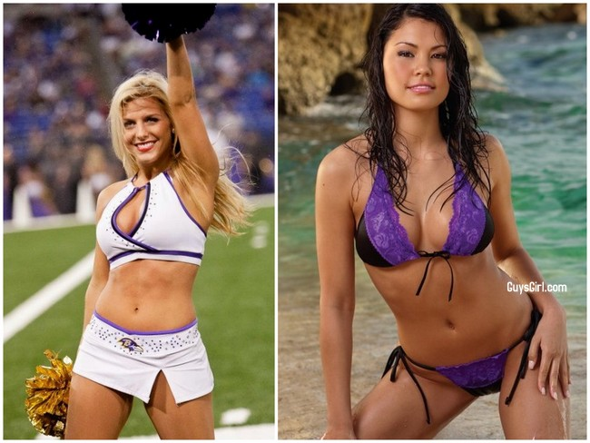 Superbowl Cheerleaders Ravens