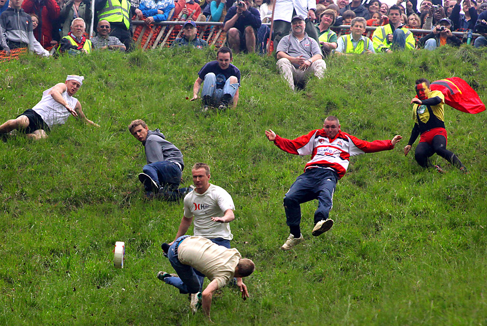 Cheese Rolling is the sport you never want to participate in but will gladly watch