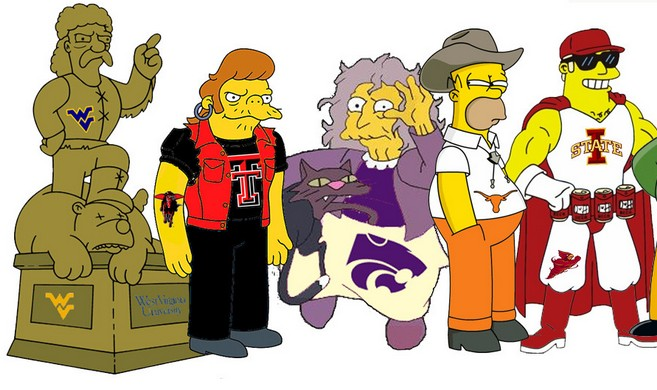 The Simpsons Stereotype ACC and Big 12 Conferences