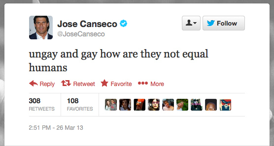 Jose Canseco Tweet