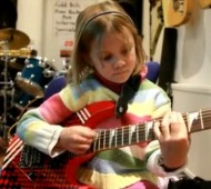 7 Year old girl plays guitar sweet child of mine