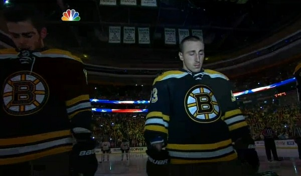 Why Sports Are Great: Bruins Fans All Join In Singing the National Anthem