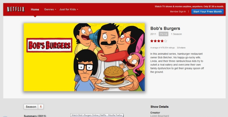 bobs burgers, tv, cartoon sitcoms