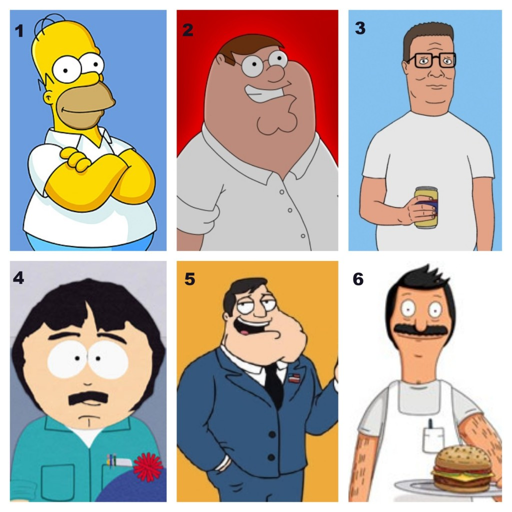tv, cartoon, family guy, the simpsons, king of the hill, south park, american dad, bobs burgers