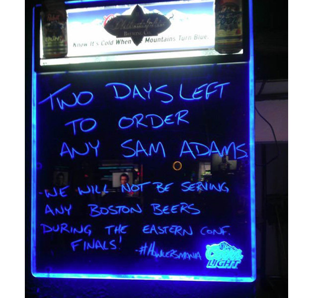 Sam Adams Sales are Banned in Pittsburgh Bars