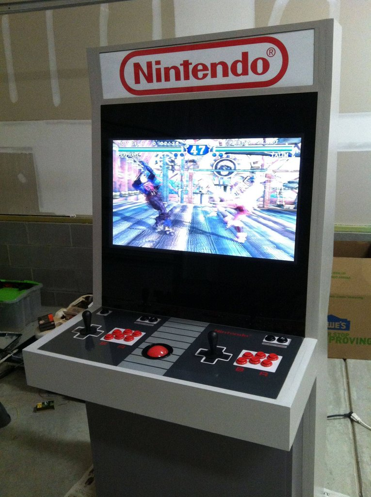 So this custom Nintendo gaming arcade is pretty awesome