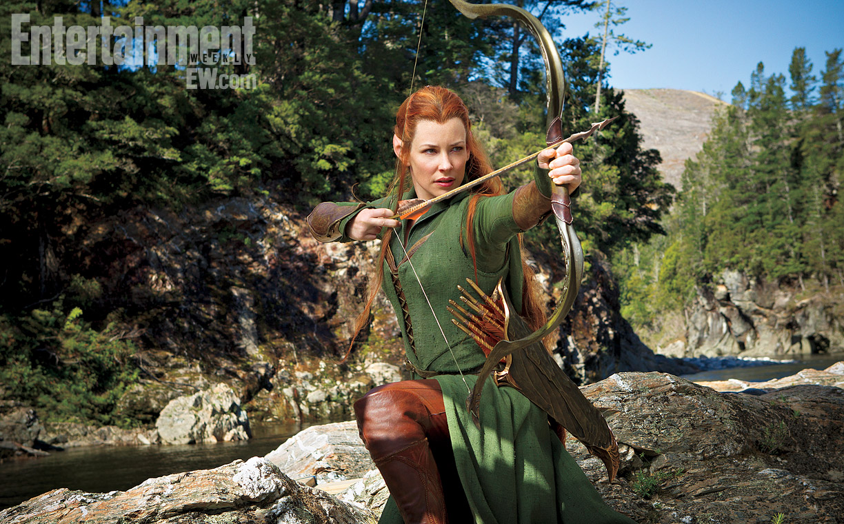 First Look of Evangeline Lilly in The Hobbit: The Desolation of Smaug