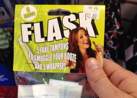 Hide Booze in Your Tampons?