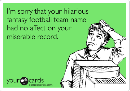 Hilarious fantasy football team name ideas