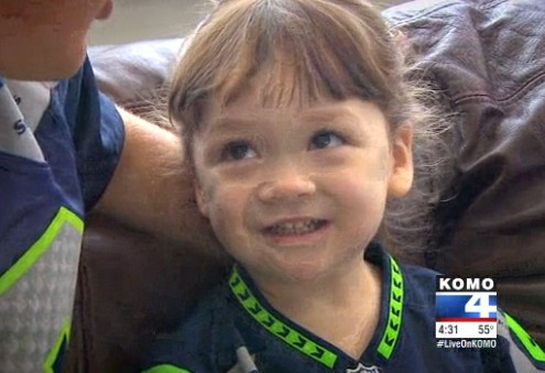 Adorable 3 Year Old Girl Can Name Seahawks Players, Backups and Coaches