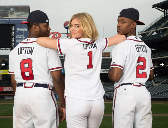 Kate Upton in a Braves uniform on the cover of SI