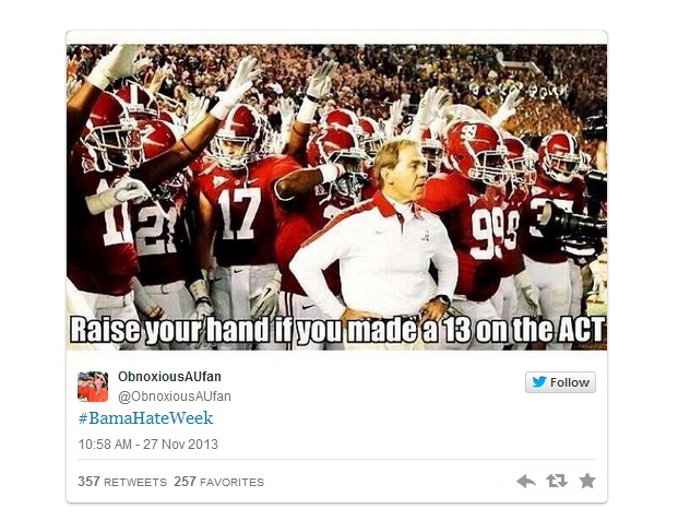 Fans Continue College Football's #HateWeek Trend
