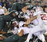 Kyler Elsworth and Michigan State's defense came up big when it mattered most. (Rod Sanford/Lansing State Journal)