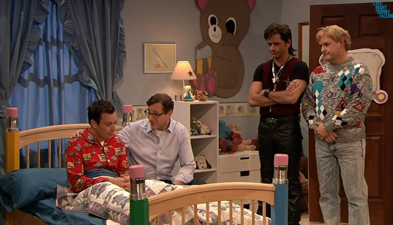 Full House guys reunite on Jimmy Fallon