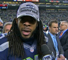 Erin Andrews interviewing Richard Sherman NFC Championship