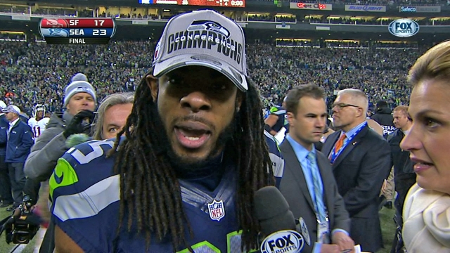 Monday Coffee: Richard Sherman yelling, Drake impersionating Arod and hockey fights