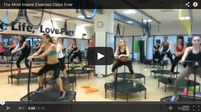 WATCH: The Most Insane Exercise Class Ever