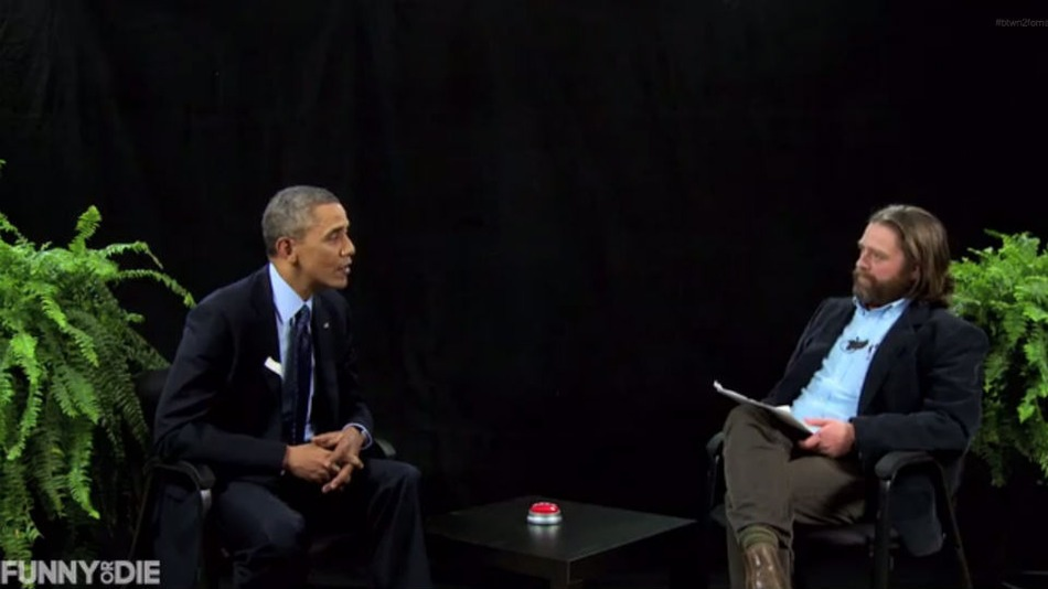 "Watch @BarackObama Sit ""Between Two Ferns"" with Zach Galifianakis"