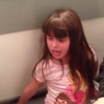 Little girl toughs-out splinter removal by singing Frozen song
