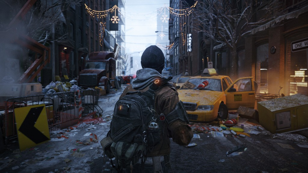 An agent standing in a NY street in The Division