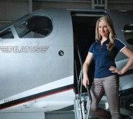 Amelia Rose Earhart with her Pilatus PC-12