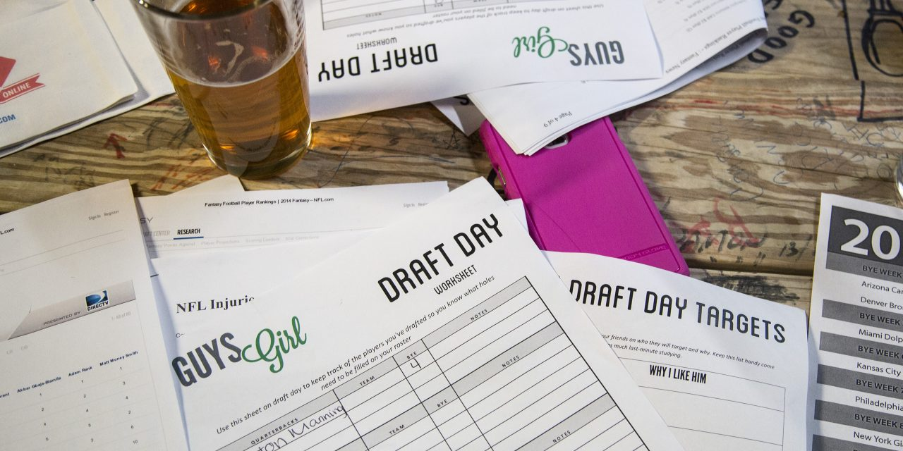 Here's a quick Fantasy Football Draft Board that you can print at home