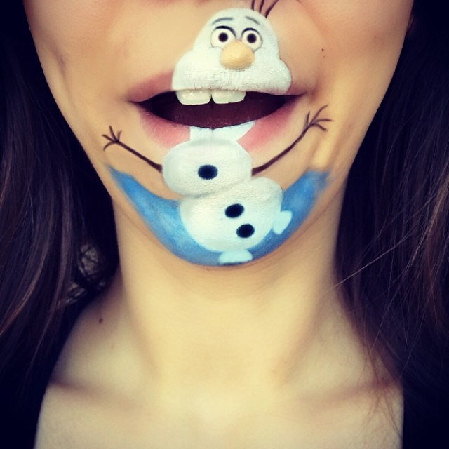 makeup artist lip art cartoons