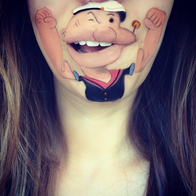 Makeup Artist Lipart with Cartoon Characters