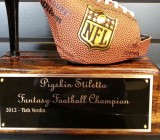Check Out This Pigskin Stileto Fantasy Football Trophy