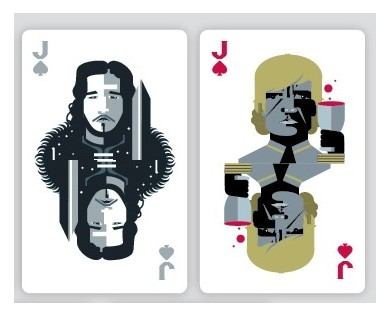 Homeland and Game of Thrones celebrated in playing card form