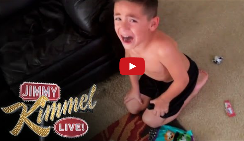 Jimmy Kimmel's 'I ate all of your Halloween candy' prank