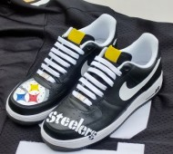 diy custom nfl sneakers steelers