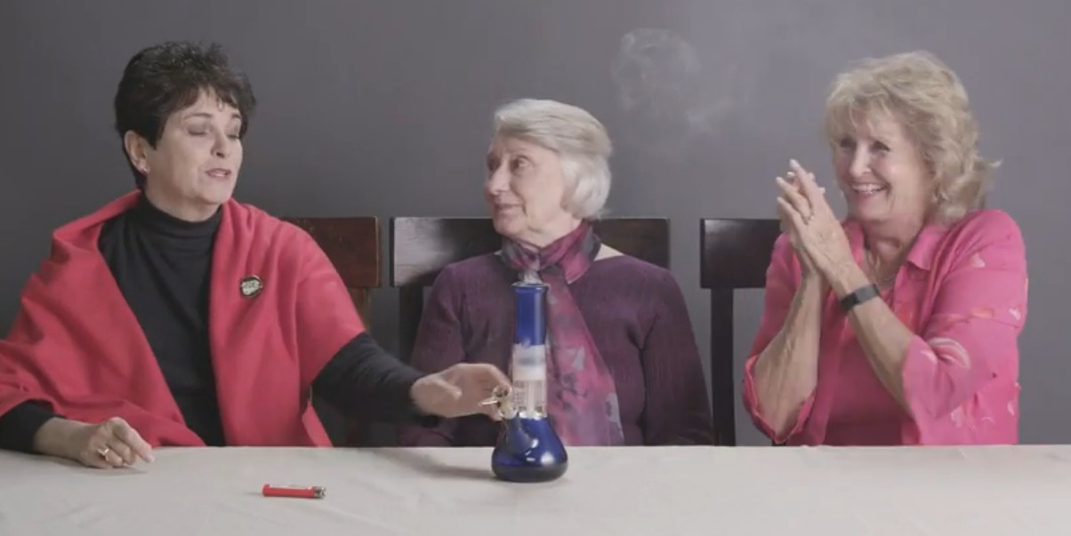 Watch These Grandmas Get High For The First Time