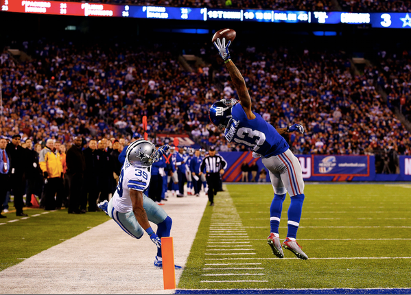 Odell Beckham Jr. gets to see his catch over and over again