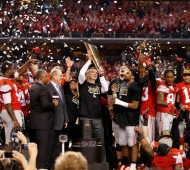 Ohio State celebrates its national title.