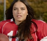 Victoria's Secret models play football in this Super Bowl commercial