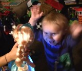 Toddler just can't help himself when 'Let It Go' is played