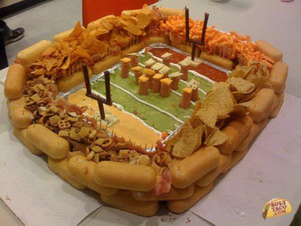 super bowl snack stadium recipe