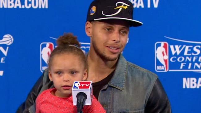 Can Steph Curry's Daughter Attend Every Press Conference?